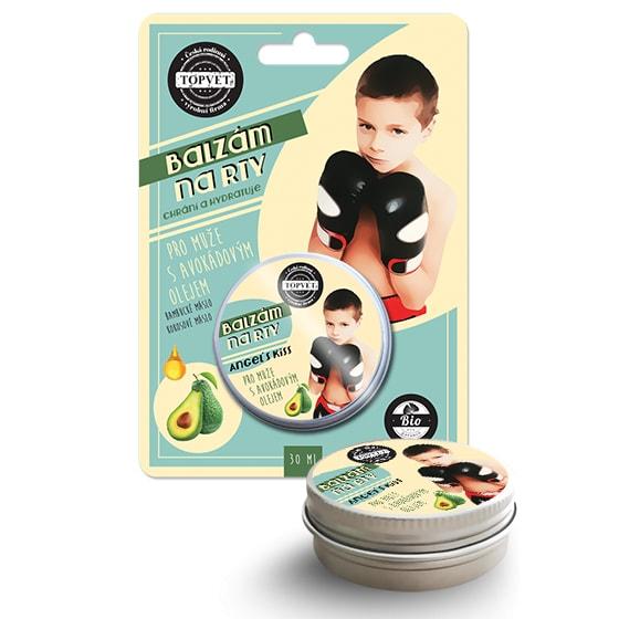TOPVET Balzám - na rty - Pro muže s avokádovým olejem Topvet