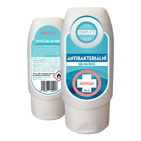 TOPVET Antibakteriální gel na ruce - hedvábí