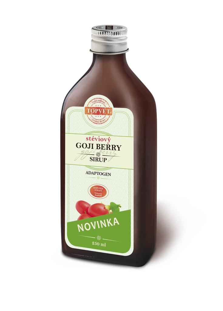 TOPVET Sirup goji berry stéviový - farmářský