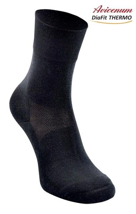 DIALEKARNA.CZ - Ponožky Avicenum DiaFit THERMO - černá - ARIES fa477436ff